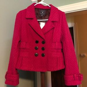 Forever 21 Pink Waist Peacoat
